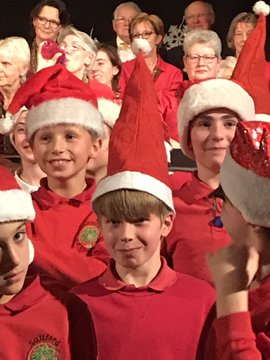 School and village choir at Christmas