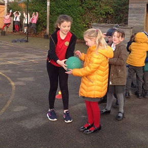 A playground leader in action