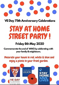 VE day stay at home street party