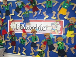 Year 1 Pinocchio art