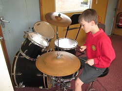 Learning the drums