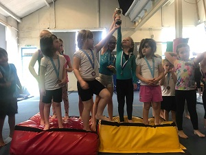 Young gymnastics winners