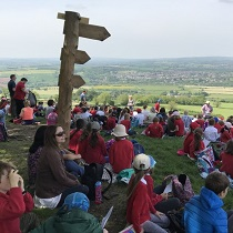 Ascension Day walk up Kelston Hill
