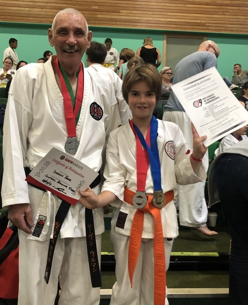 Joshua at karate qualifiers